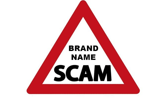 China Brand Name Scam