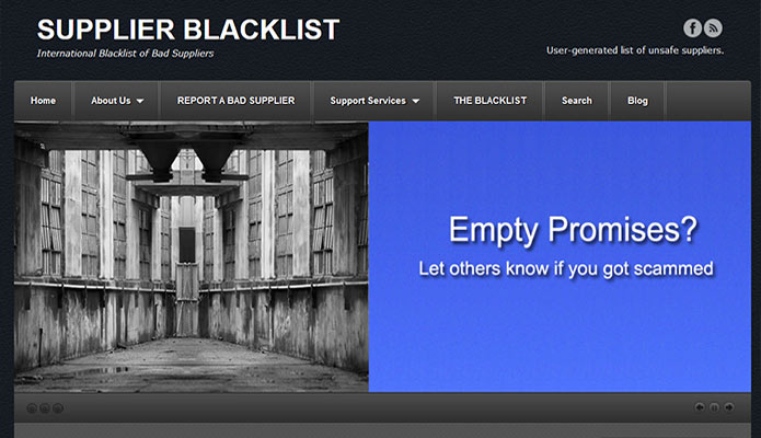 Supplier Blacklist